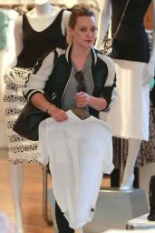 Hilary Duff - Shops at Intermix in Los Angeles, Feb. 2015