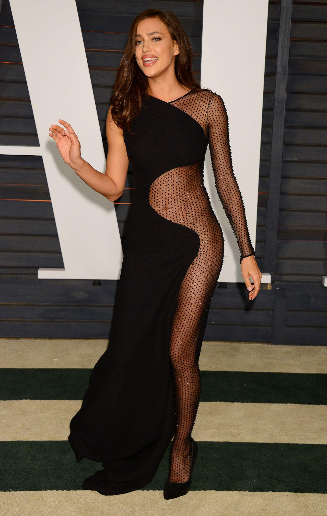 Irina Shayk 2015 Vanity Fair Oscar Party In Hollywood