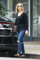 Jennifer Lawrence in Ripped Jeans - Out in Los Angeles, January 2015