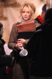 Jennifer Lawrence - On the set of