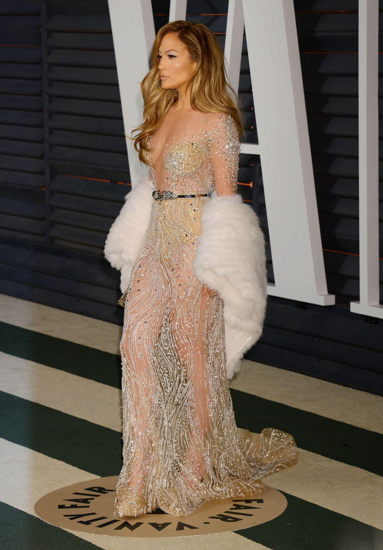 Jennifer Lopez 2015 Vanity Fair Oscar Party In Hollywood
