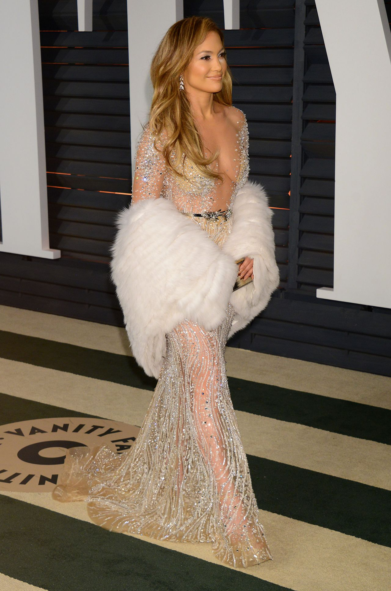Jennifer Lopez 2015 Vanity Fair Oscar Party In Hollywood