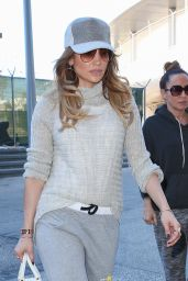 Jennifer Lopez Casual Style - LAX Airport in Los Angeles, February 2015