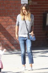 Jessica Alba Casual Style - Coldwater Canyon Park in Beverly Hills, February 2015