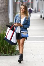 Jessica Alba - leaving a Soul Cycle Class in Los Angeles, February 2015