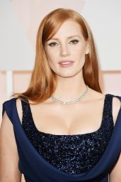 Jessica Chastain – 2015 Oscars Red Carpet in Hollywood