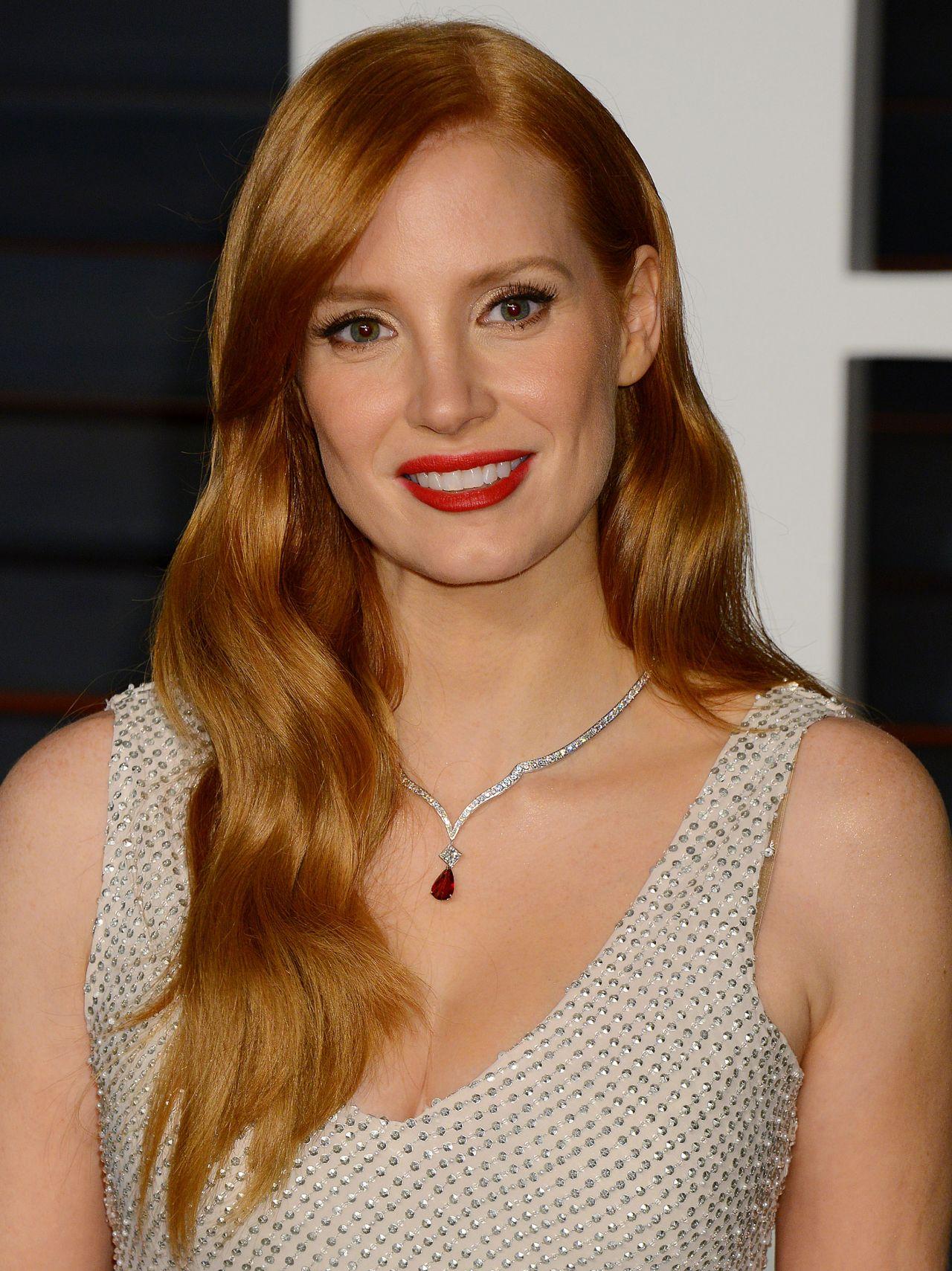 Jessica Chastain - 2015 Vanity Fair Oscar Party in Hollywood
