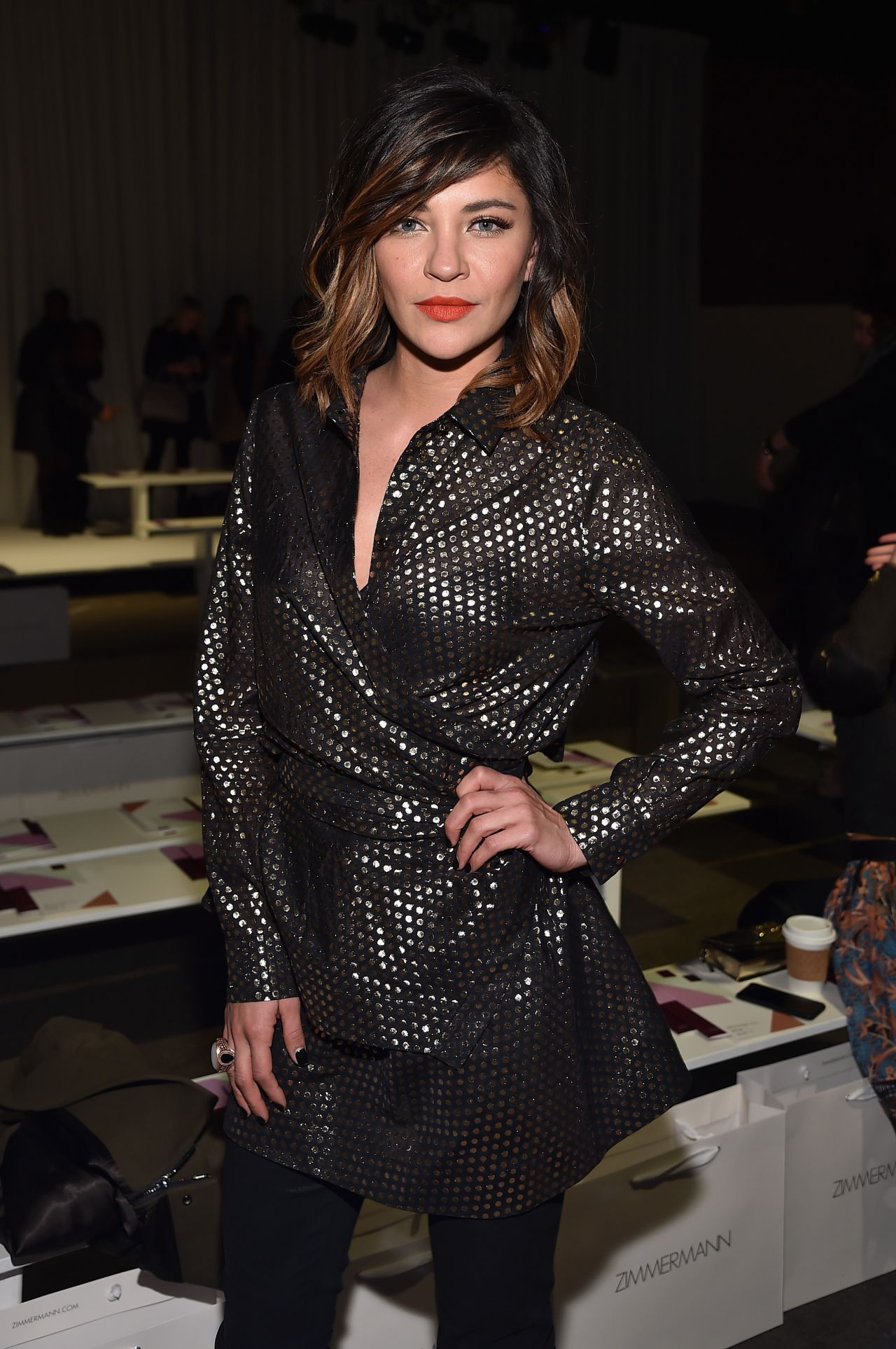 Jessica Szohr - Zimmermann Fashion Show in New York City, Feb. 2015