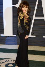 Joan Collins & Jackie Collins - 2015 Vanity Fair Oscar Party in Hollywood