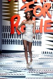 Jourdan Dunn - Fashion For Relief Charity Fashion Show in London, February 2015