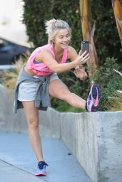 Julianne Hough - Out Jogging in West Hollywood, February 2015