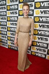 Karine Vanasse - 2015 VES Awards in Beverly Hills