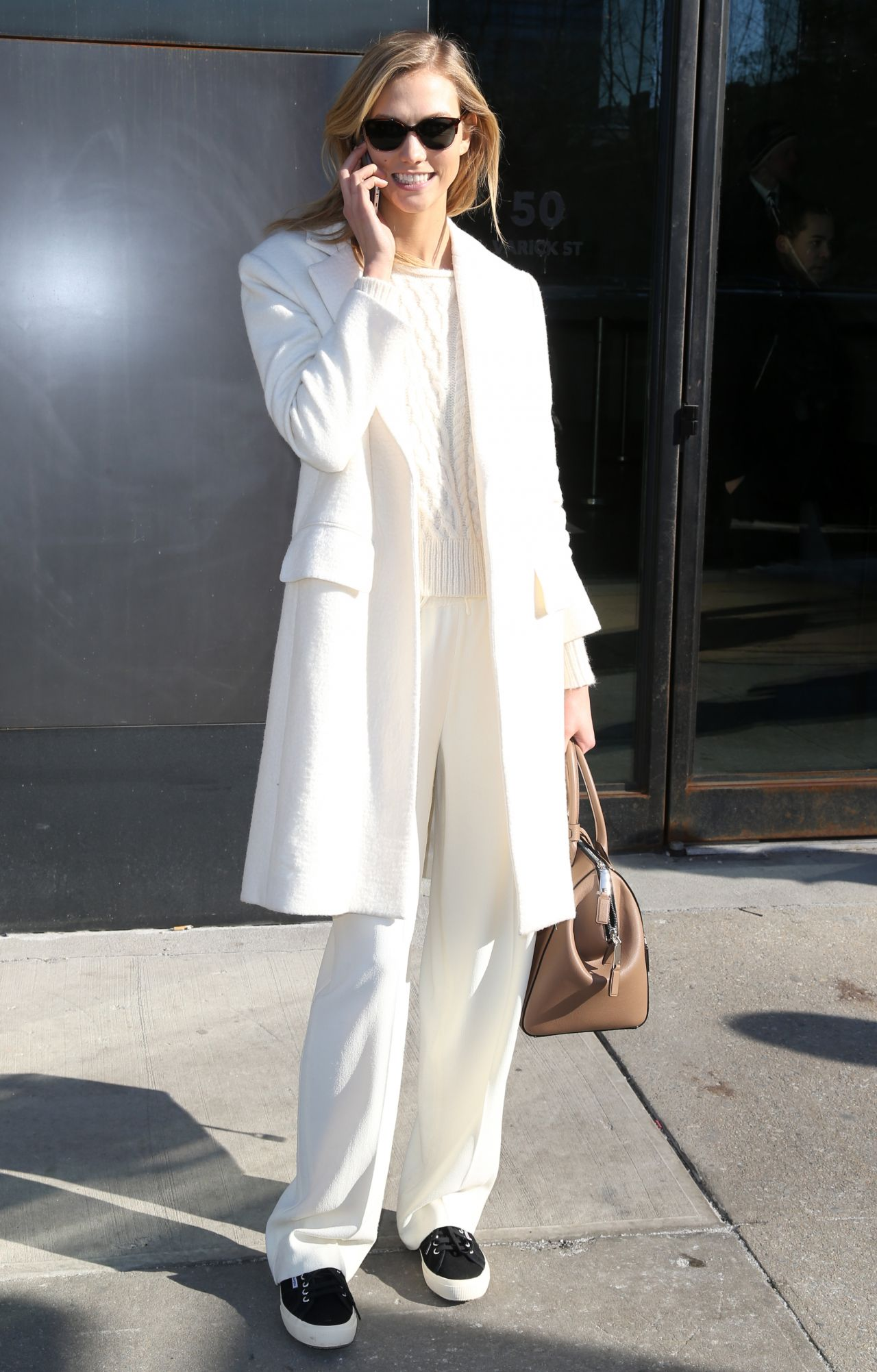 Karlie Kloss Fashion Out In New York City February 2015
