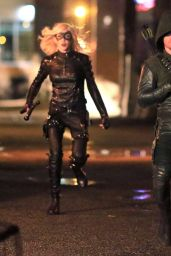 Katie Cassidy - On the Set of