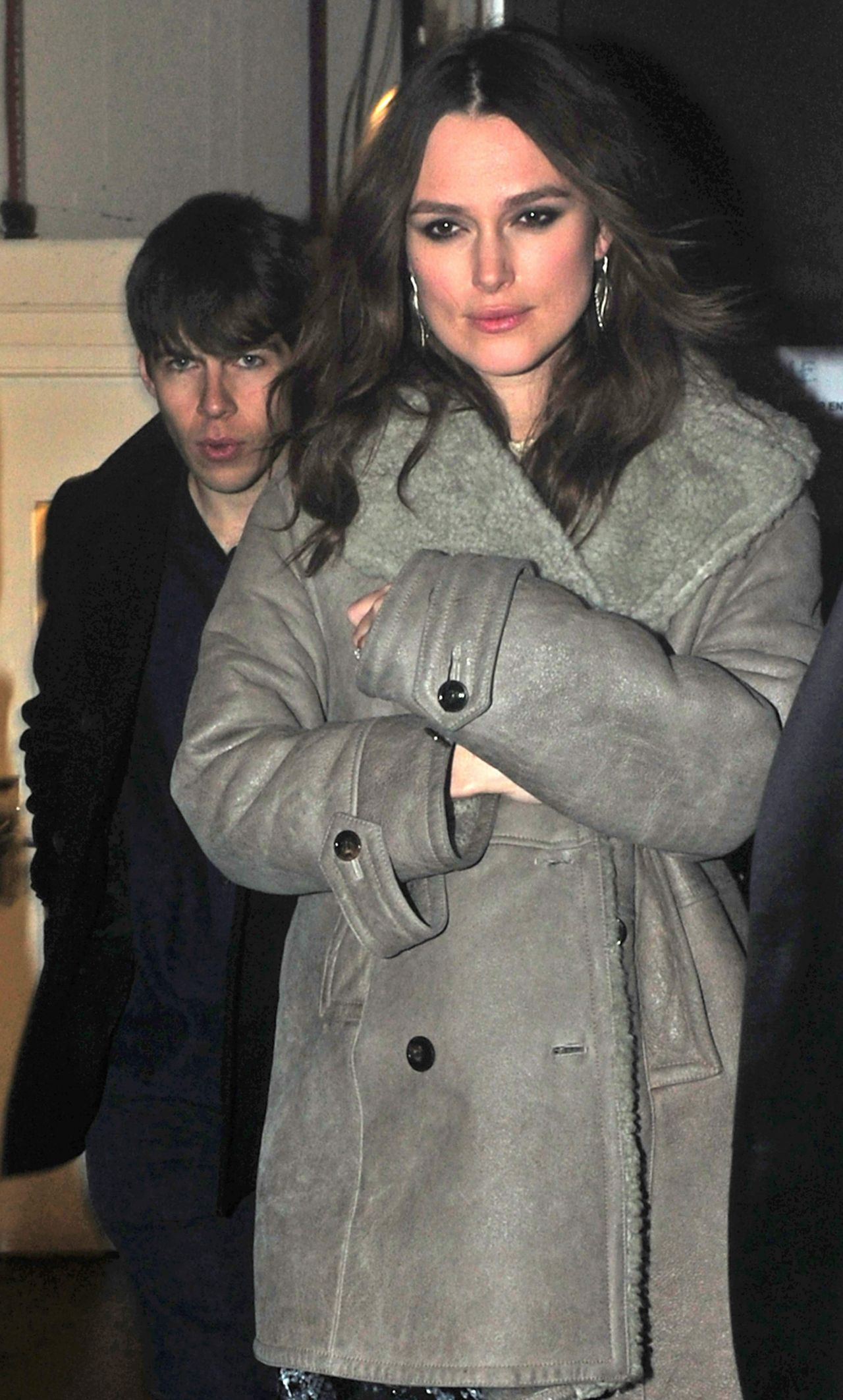 Keira Knightley - Leaving The Strand Palace Hotel in London, February 2015
