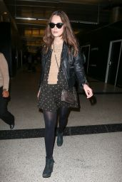 Keira Knightley Style - LAX Airport, Feb. 2015