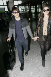 Keira Knightley - With Her Husband James Righton At Heathrow Airport, February 2015