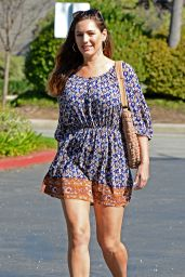 Kelly Brook Leggy in Mini Dress - Out in Los Angeles, February 2015