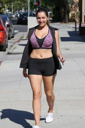 Kelly Brook - Looking Fit and Health - Leaves Her Workout Class, February 2015