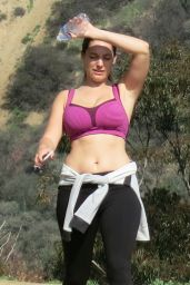 Kelly Brook - Out for a Hike in West Hollywood, January 2015