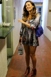 Kelly Brook Shows Off Her Legs - Leaving a Nail Salon in Beverly Hills, Feb. 2015