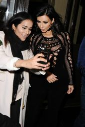 Kim Kardashian - 2015 BRIT Awards Arrivals and Live Show in London
