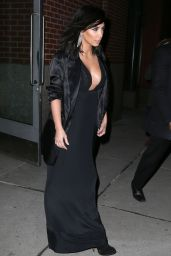 Kim Kardashian Fashion - Leaving Her Apartment in New York City, Feb. 2015