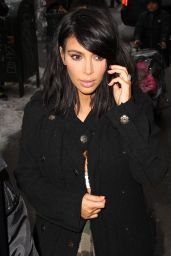 Kim Kardashian in Camouflage Pants -Out in New York City, February 2015
