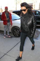 Kim Kardashian Street Style - Out in New York City, February 2015