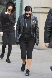 Kim Kardashian Street Style - Out in New York City, February 2015