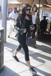 Kim Kardashian Styel - at Il Pastaio Restuarant in Beverly Hills, February 2015