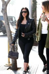 Kim Kardashian Styel - at Il Pastaio Restuarant in Beverly Hills, February 2015