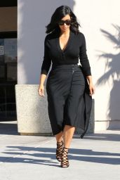 Kim Kardashian Style - Filming in Westlake Village, February 2015