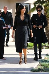 Kim Kardashian Style - Filming in Westlake Village, February 2015