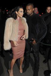 Kim Kardashian Style - Out in London, February 2015