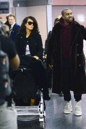 Kim Kardashian With Kanye West in New York - February 2015