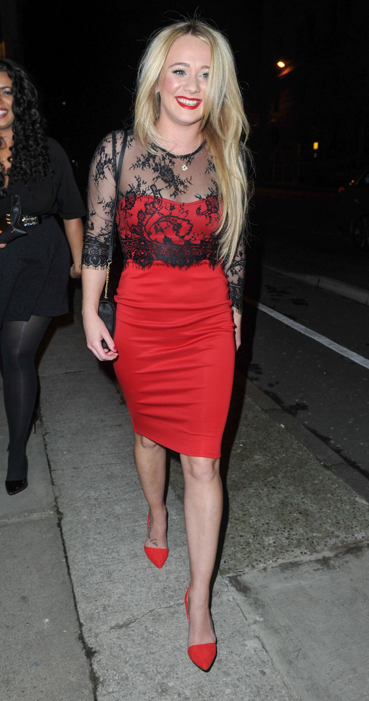 Kirsty-Leigh Porter Night Out Style – at The Amanzi Restaurant in Liverpool, Jan. 2015