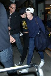 Kristen Stewart - Back at LAX Airport, February 2015