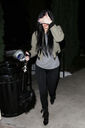 Kylie Jenner in Tight Leggings - Out at Sugarfish in Los Angeles, Feb. 2015