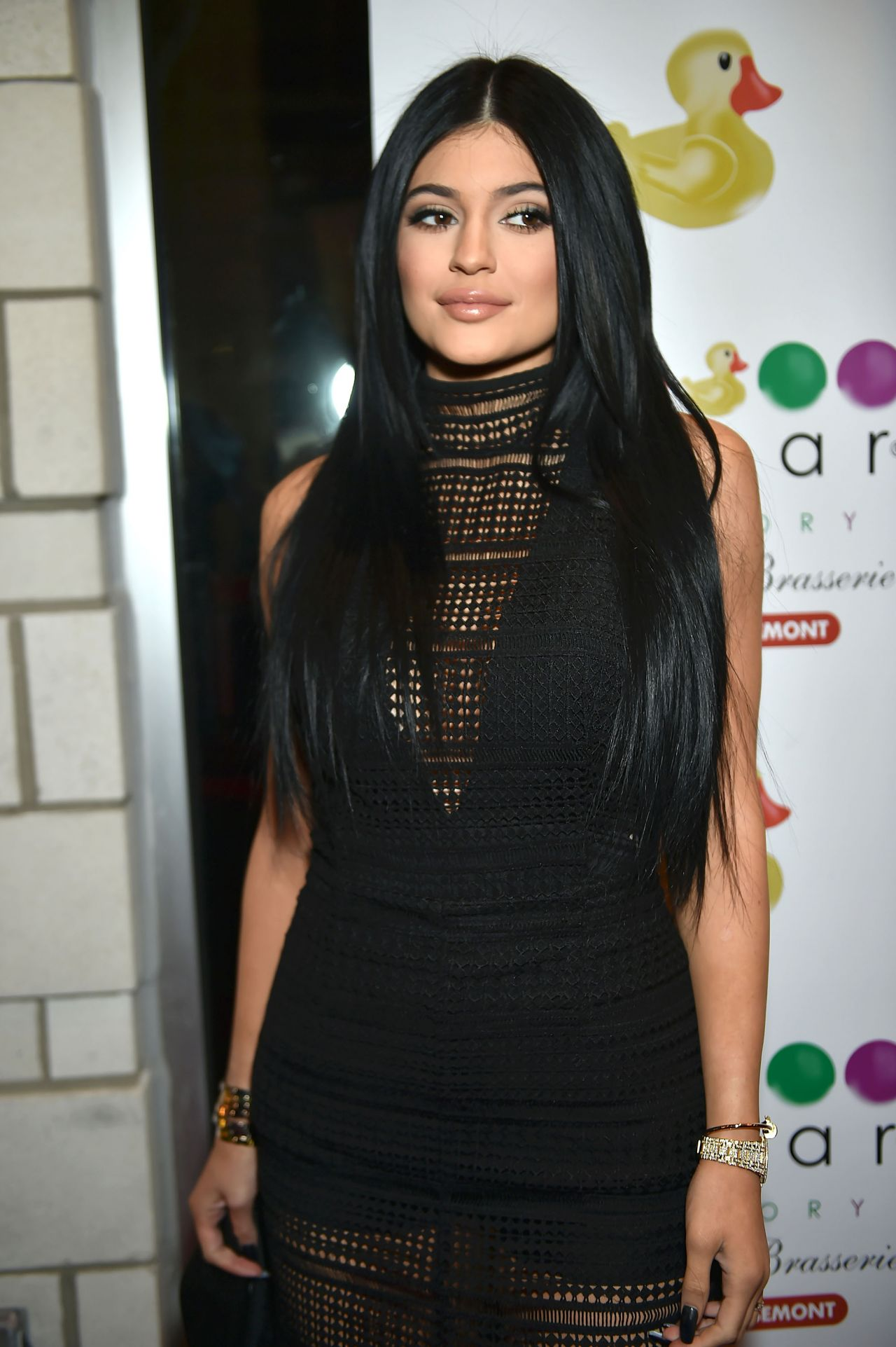 Kylie Jenner Arrives On The Red Carpet At Our Balmain X H: Sugar Factory American Brasserie Grand