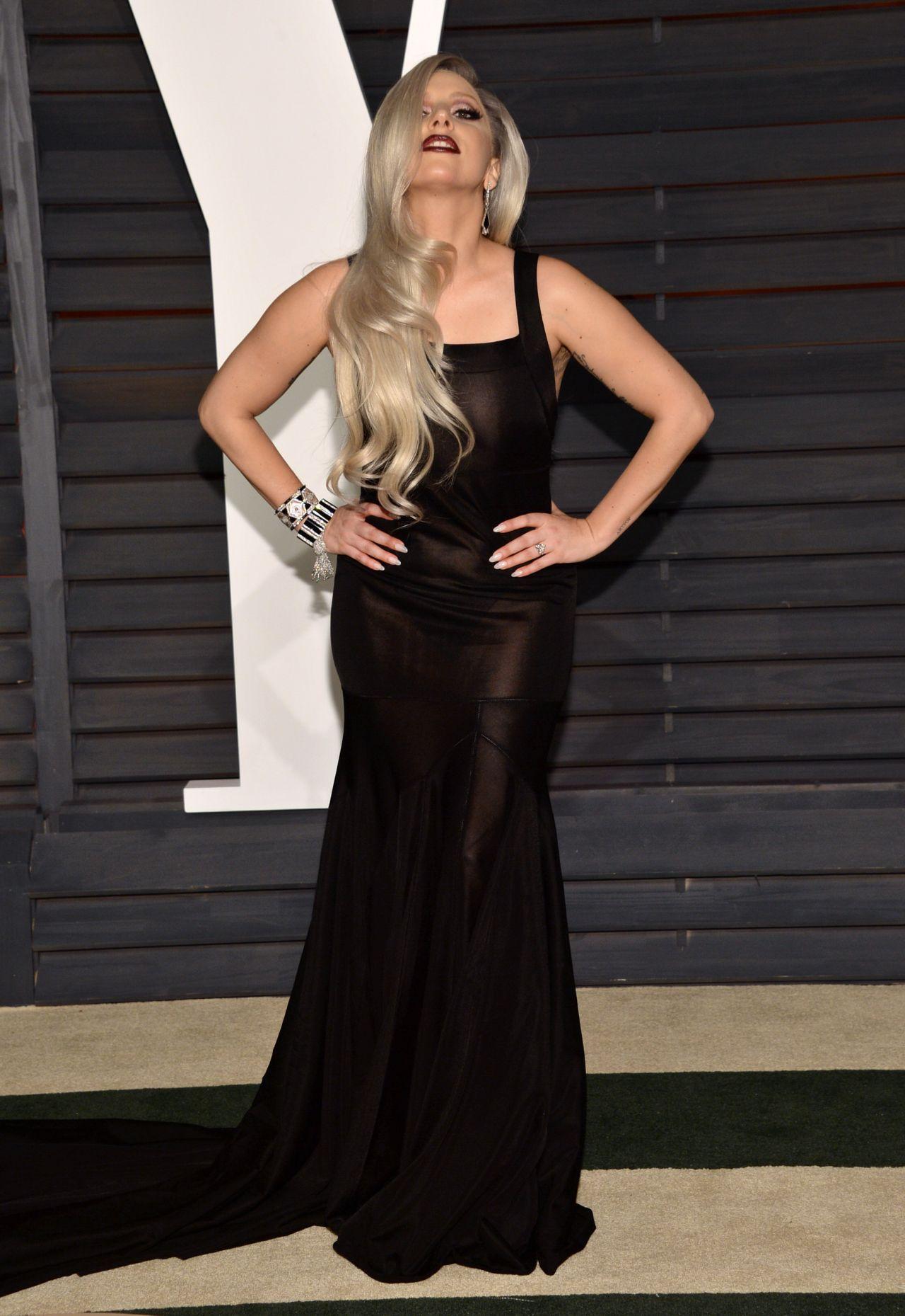 Lady Gaga 2015 Vanity Fair Oscar Party In Beverly Hills Celebmafia