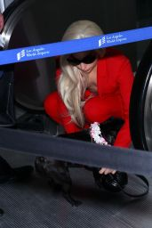 Lady Gaga Fashion - at LAX Airport, February 2015