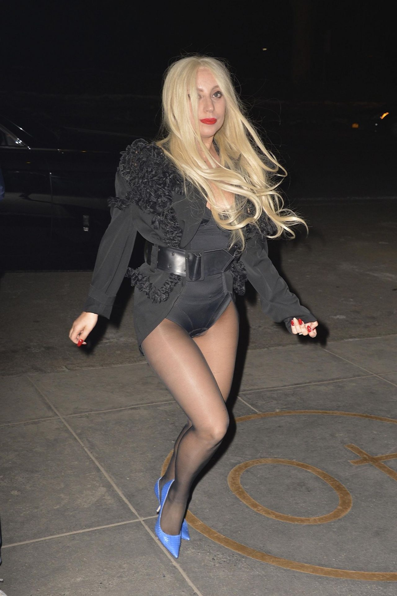 Lady Gaga Shows Off Her Legs Out In Nyc February 2015