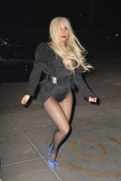 Lady Gaga Shows Off Her Legs - Out in NYC, February 2015