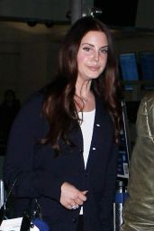 Lana Del Rey - Arriving at LAX Airport, February 2015