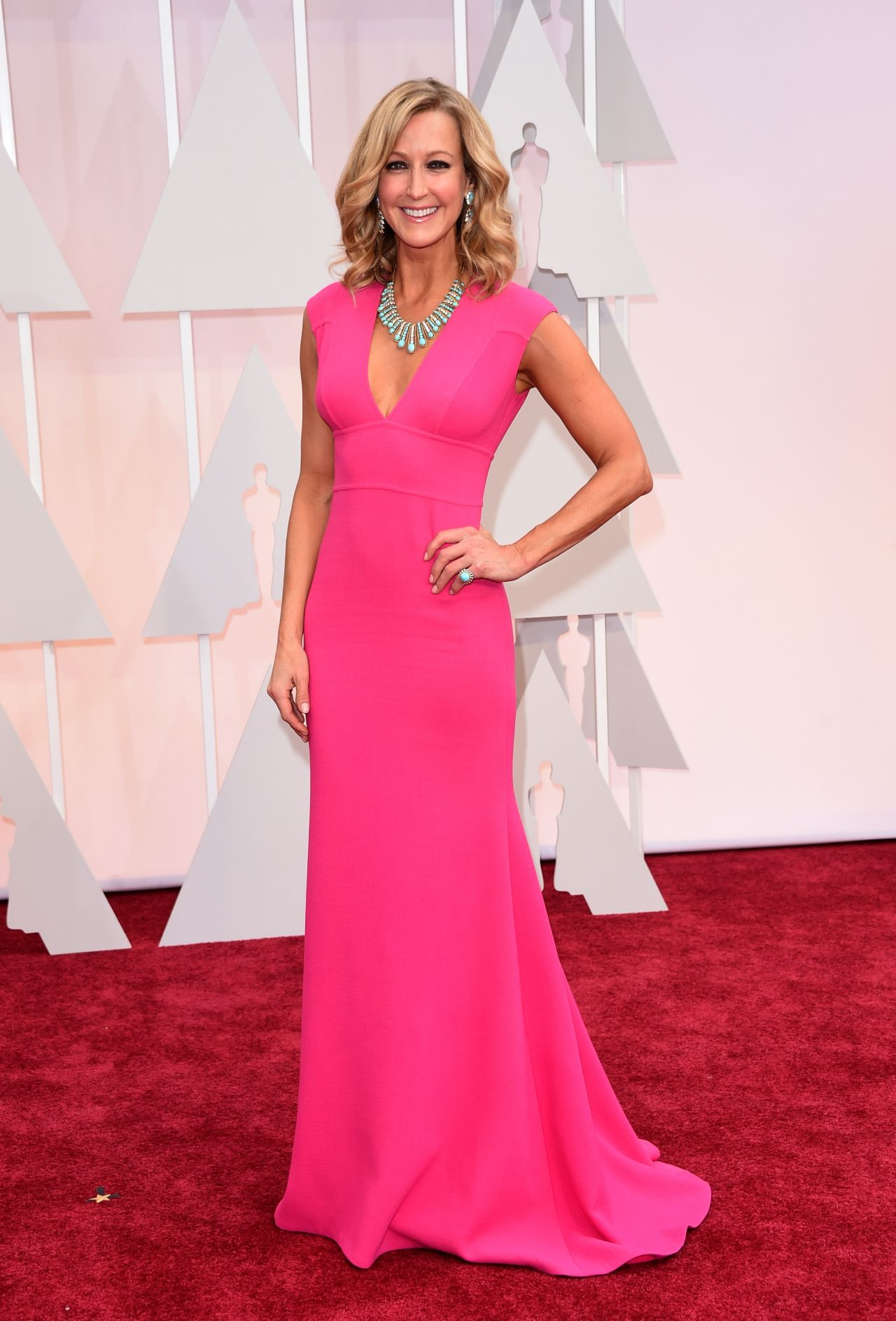 lara spencer 2015 oscars red carpet in hollywood