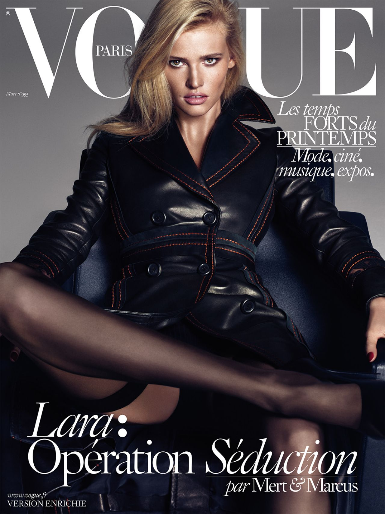 Lara Stone - Vogue Paris Magazine March 2015 Cover