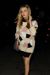 Laura Whitmore - Giles Deacon Fashion Show in London, February 2015