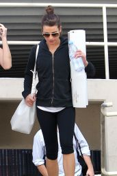 Lea Michele - Leaving a Yoga Class in Hollywood, Febuary 2015