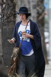 Lena Headey Casual Style - Out in Los Angeles, January 2015